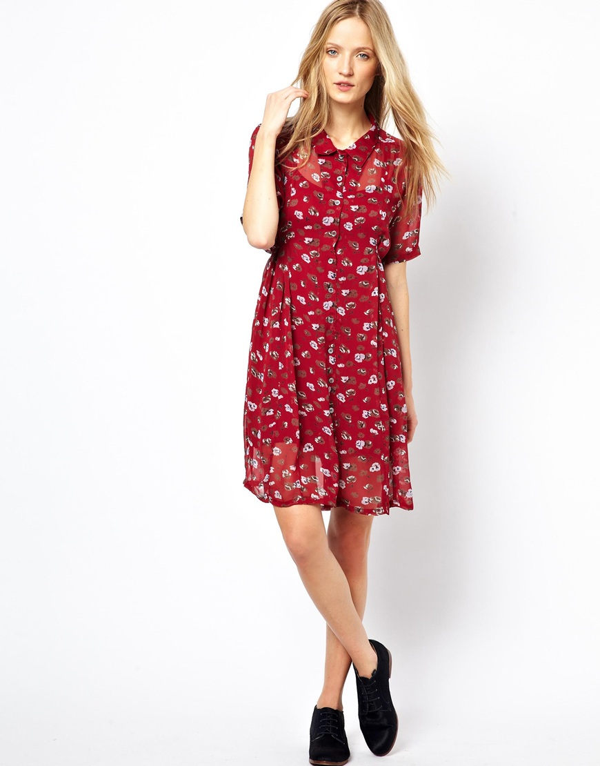 ASOS Ganni Montparnasse Shirt Dress