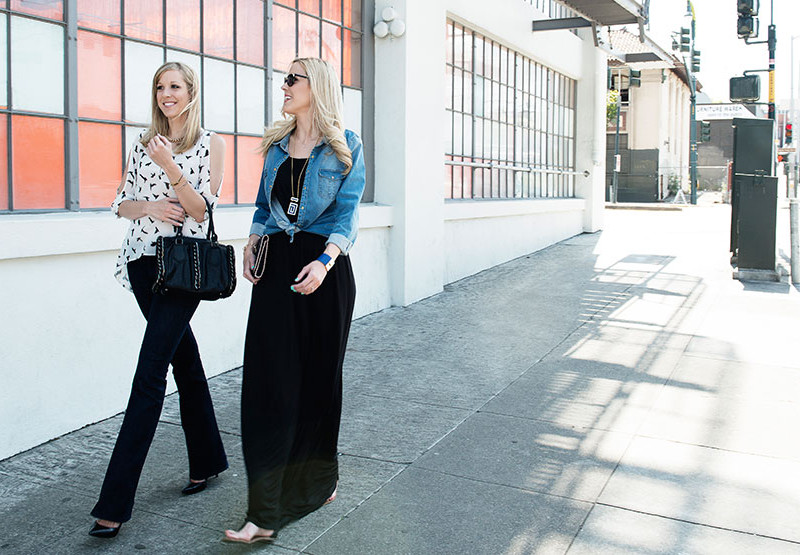 Lynn and Kate, the co-founders of TallWater Jeans