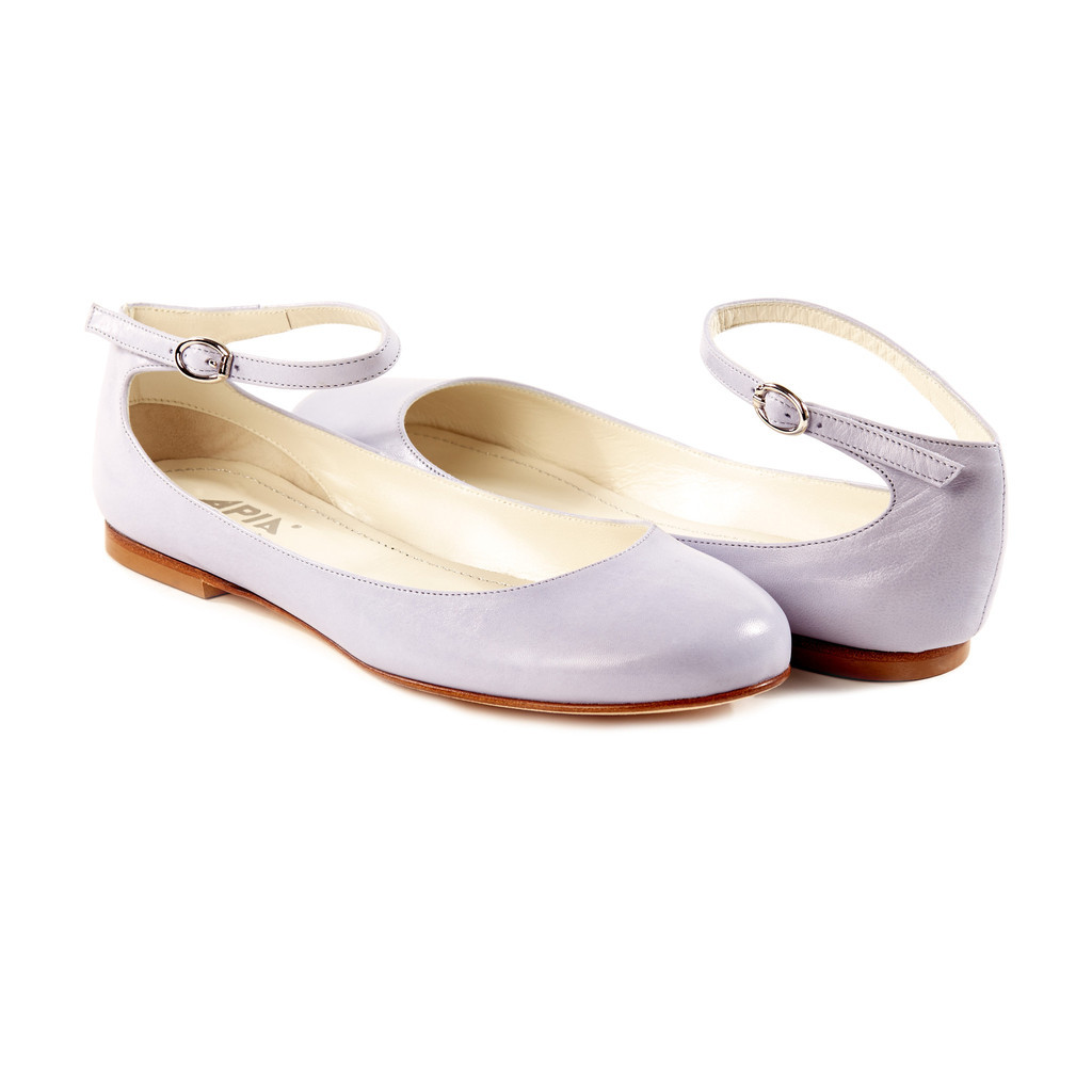 The Aletta Lavender Mary Janes ($276) from Autograf New York)