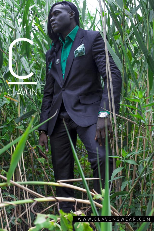 A custom suit from Clavon's Wear