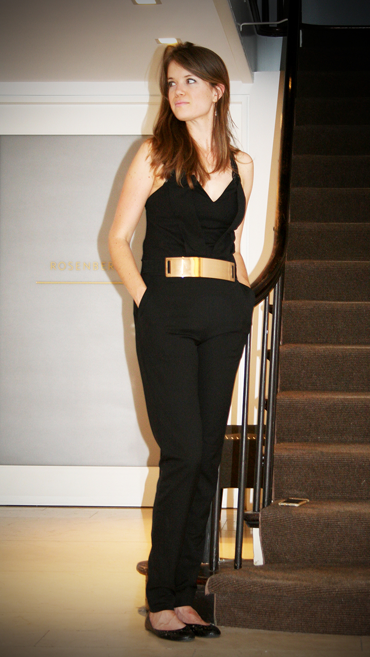 Wearing the Strapless Black Jumpsuit, c/o Dellez Tall Fashion