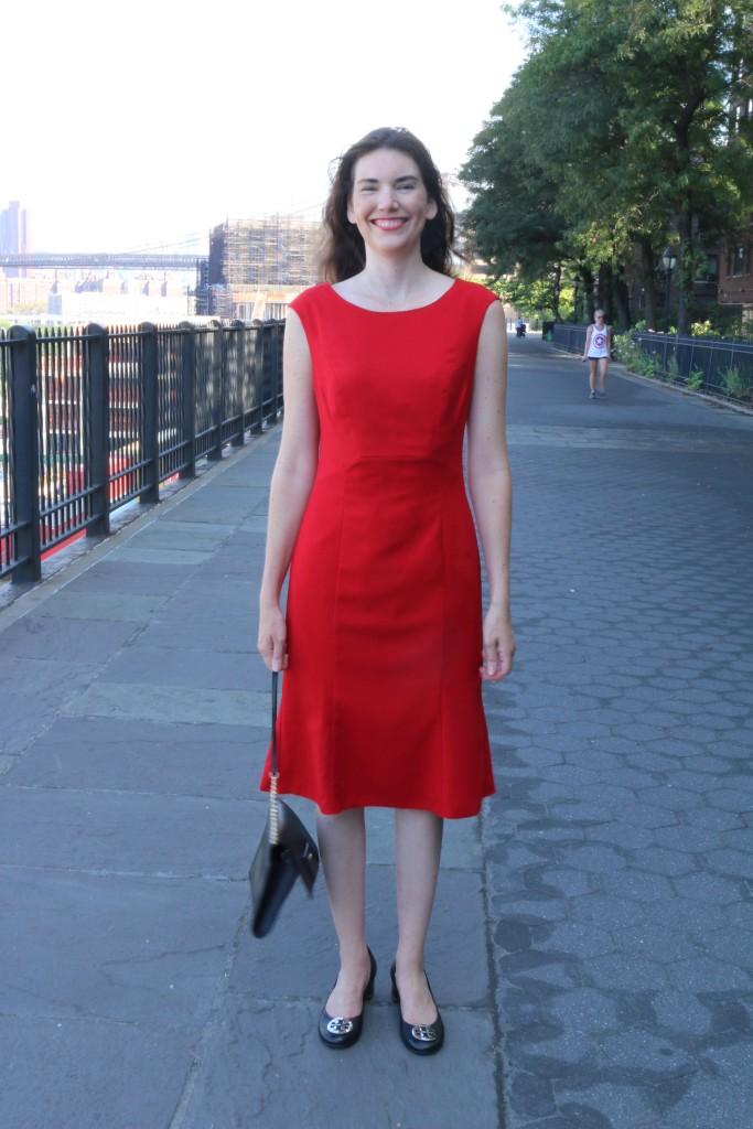 Wearing the Herringbone Flippy Dress c/o Long Tall Sally