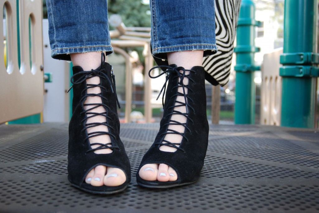 Wearing the Egypt Suede Lace Up Boots c/o Long Tall Sally