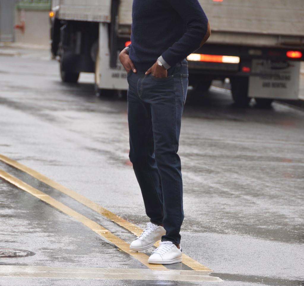 Wearing the  J1 Dark Rinse Jeans (c/o American Tall)
